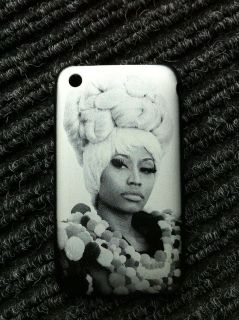 Nicki Minaj iPhone 3 3G 3GS Case Cover Metal with Fabric interior.