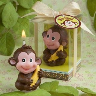 18 40 50 or 96 Adorable Monkey Candle Baby Shower/Baptism