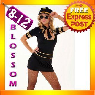 2012 pilot air hostess flight attendant costume hat same day