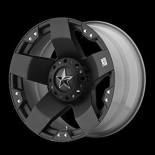 RIMS XD ROCKSTAR MATTE BLACK WITH 35X12.50X18 NITTO MUD GRAPPLER MT