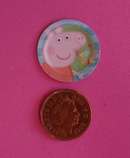dolls house miniature 20 peppa pig paper plates time left