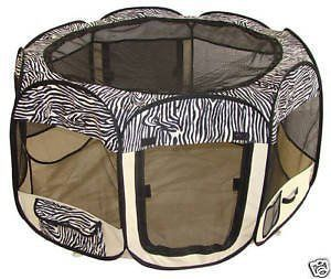 zebra pet dog cat tent puppy playpen exercise pen crate