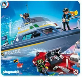 playmobil police 4429 police boat new from united kingdom time