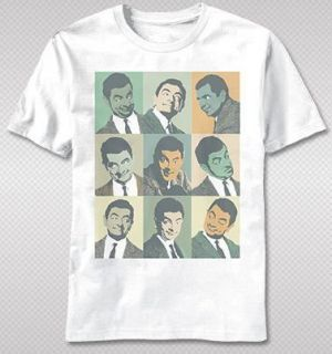 NEW Mr. Bean British Humor Warhol Faces Vintage Faded Look Adult T