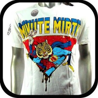 Minute Mirth T Shirt Tattoo Punk bmx Rock Art H137 Sz M Graffiti Tiger