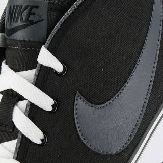nike toki canvas black white gray mens us size 10 5 uk 9 5