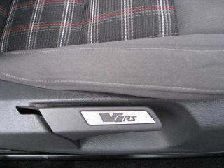 skoda octavia vrs alloy trim seat insert badges pair top