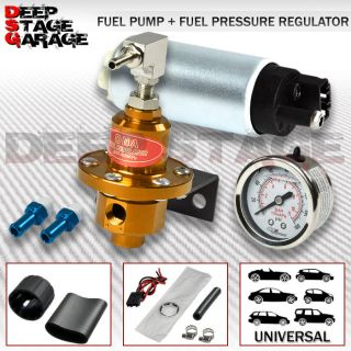 EFI FUEL INJECTION PUMP/TANK+160 PSI PRESSURE REGULATOR+OIL GAUGE GOLD