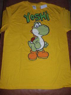 Mens Nintendo Super Mario Bros Yoshi Yellow T Shirt New with Tags
