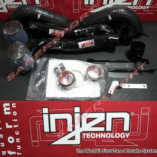DUAL COLD AIR INTAKE SYSTEM 07 08 NISSAN 350Z +16HP BLACK (Fits 350Z