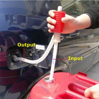 Portable Car Manual Hand Siphon Pump Hose Gas Oil Liquid Syphon