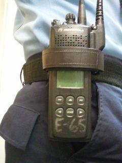 FIREFIGHTER SWAT MEDIC POLICE LEATHER RADIO HOLDER SAV A JAKE