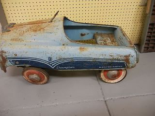 vintage murray blue champion toy riding pedal car time left