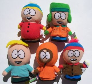 South park plush Doll Toy Cartman, Kyle, Butter, Kenny, Stan (7   8