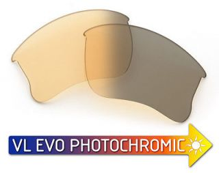 VL Photochromic EVO Lenses for Oakley Flak Jacket XLJ   HD Yellow to