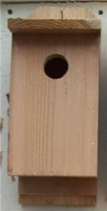 new cedar wood bluebird birdhouse outdoor bird house time left