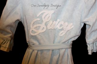Nwt Juicy Couture BLUE Robe Terry Cloth w/hoodie sz. small