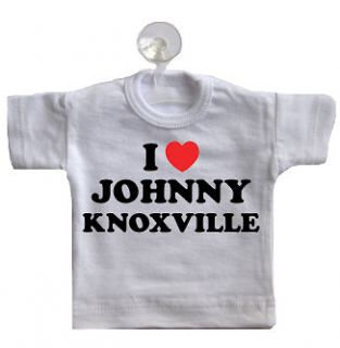 Love Johnny Knoxville Mini T Shirt For Car Window