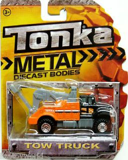 Tow Truck TONKA 2012 Metal Diecast Bodies Realistic Tires 1/64 Scale