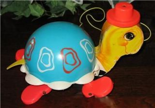 vintage 1962 fisher price turtle pull toy 773 time left