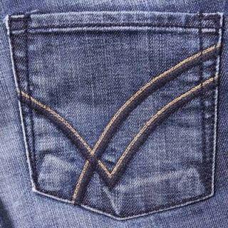 27) William Rast Rachel low rise skinny slim Gloom blue stitch jeans