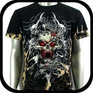 Survivor T Shirt Biker Punk Rock Tattoo S35 Sz XL Heavy Metal Funky