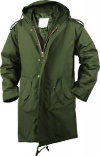 olive drab military m 51 fishtail parka jacket more options