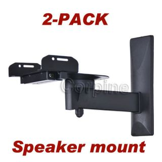 Pair Surround Sound Side Clamp Large Bookshelf Speaker Wall Mount