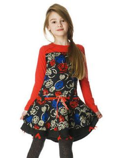 deux par deux red black print dress fall 2012 new