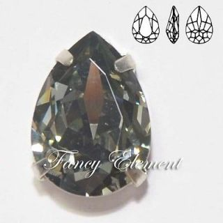 Swarovski Genuine 4320 18x13mm Black Diamond Rhinestone Crystal Fancy