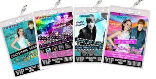 Justin Bieber Birthday Party VIP PASS Invitations Favor