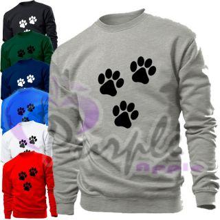 paw print animal mens womens sweater sweatshirt top location united
