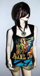 Pearl Jam Alternative Grunge Rock DIY Pentagon Neckline Vest Top Shirt