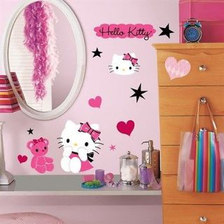 Hello Kitty   Couture Peel & Stick Removable Wall Decals Stickers