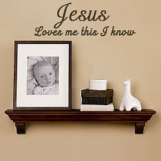 jesus loves me baby room nursery wall quote home decor