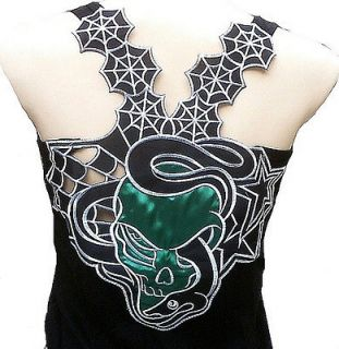 Rockabilly Punk Rock Baby SNAKE GOTHIC SKULL Tattoo Designer TANK TOP