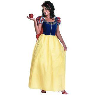 Snow White Deluxe Disney Princess Adult Halloween Costume in Std/Plus