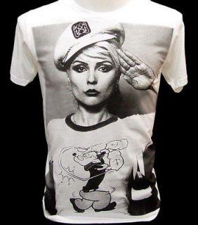 blondie popeye sailor 80s indie vtg punk rock t shirt
