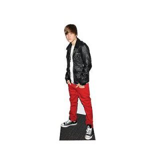 justin bieber standee lifesize cutout red trousers