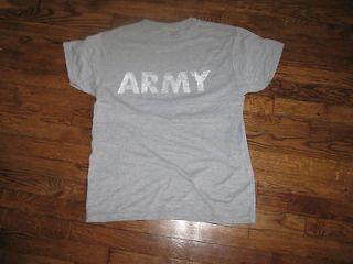tshirt,us army pt shirt,medium, new ,100% poly,wicking,us made