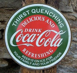 Vintage Antique Style Coca Cola Sign Retro Ad Basement Home Coke Decor