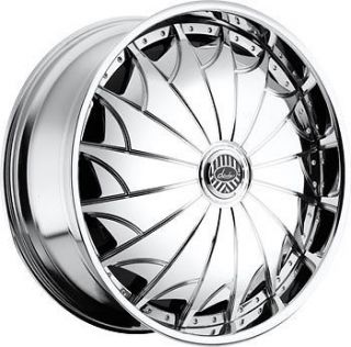 22 DAVIN REVOLVE SPINNERS Devious WHEEL SET 22x9.5 RIMS 5   6 Lug