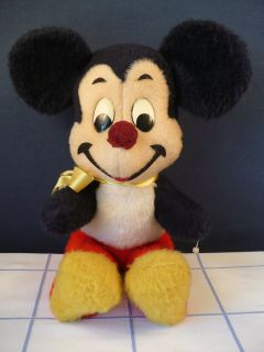 vintage walt disney mickey mouse plush stuffed doll toy time