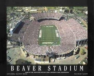 beaver stadium penn state university football poster 28 x 22