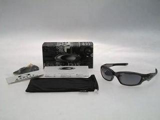AUTHENTIC OAKLEY STRAIGHT JACKET GREY SMOKE BLACK IRIDIUM 04 327