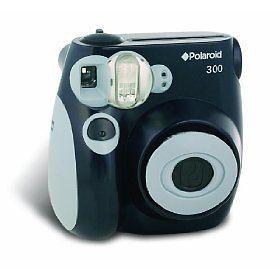 polaroid pic 300b instant analog camera black