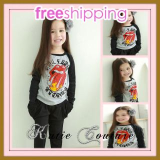 Unisex Boy Girl Hippy Rock Vintage Rolling Stone Sweater Shirt Top NWT