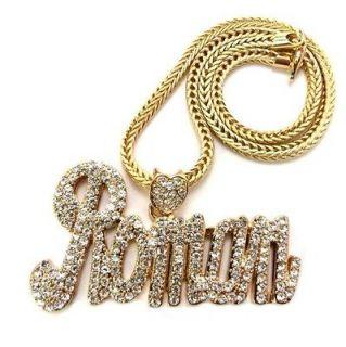 Huge Gold Crystal ROMANS REVENGE BLING NECKLACE Chain NICKI MINAJ
