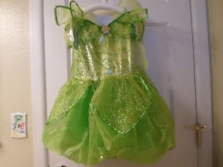 Disney Parks Tinker Bell Fairy Costume Dress with Wings   Sz 7 8