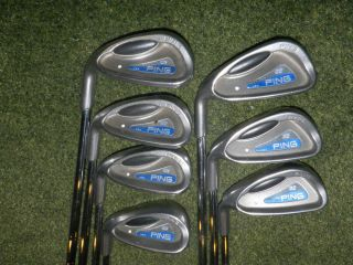 LEFT HANDED PING GOLF CLUBS G2 IRONS STIFF FLEX ALWAYS A GREAT